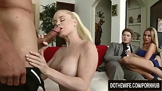 Swinger Wife Nikki Delano Fucks a Married Man While Spouses Enjoy Watching