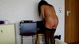 My MILF Exposed granny wife in black stockings