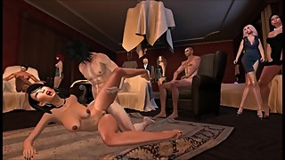 Session 69 part 1 of 2 - Swinger Wife Performs Sex Show With Three Studs